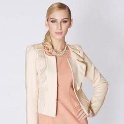 O.SA - Puff-Sleeve Ruffled Jacket