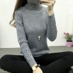 YAMI - Cable Knit Detailed Sweater
