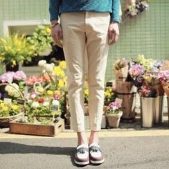 JOGUNSHOP - Cotton Blend Cropped Pants