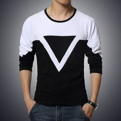 T for TOP - Long-Sleeve Printed T-Shirt