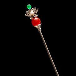 Paparazzi - Shell Bead Hair Pin