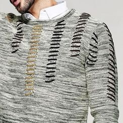Quincy King - Distressed Knit Pullover