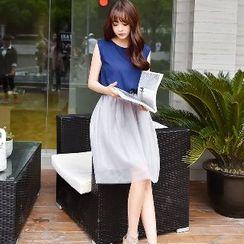 Romantica - Sleeveless Color-Block Dress