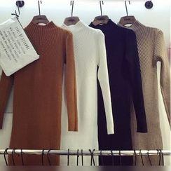 Octavia - Mock-Neck Knit Dress