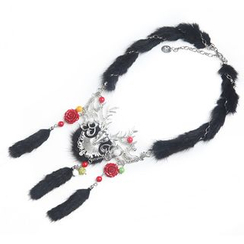 MIPENNA - Black Snow Deer Necklace