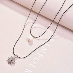 Best Jewellery - Rhinestone Star Layered Necklace