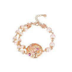 Italina - Swarovski Elements Crystal Faux Pearl Bracelet