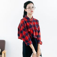 Forest Girl - Plaid Oversized Shirt