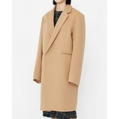 Someday, if - Snap-Button Wool Blend Coat