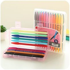 Cutie Bazaar - Set of 24: Colored Felt-Tip Pens