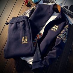 Alvicio - Set: Print Zip Jacket + Sweatpants