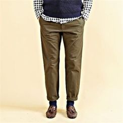 THE COVER - Straight-Cut Cotton Pants