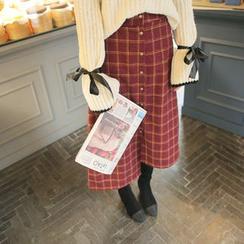 Cherryville - Check A-Line Long Skirt