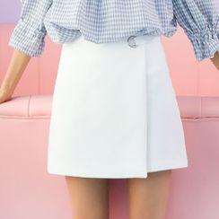 Isadora - Plain Wrap A-Line Skirt