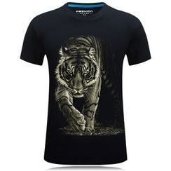 Champking - Short-Sleeve Lion Printed T-Shirt