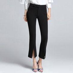 Sentubila - Cropped Boot Cut Pants