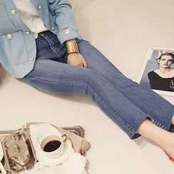 NANING9 - Washed Boot-Cut Jeans