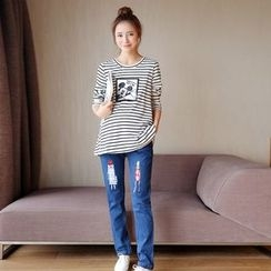 Ohayo - Maternity Straight Fit Jeans