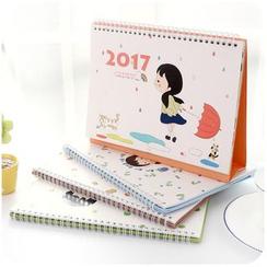 Momoi - 2017 Printed Desk Calendar (S/M)
