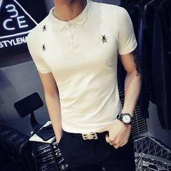 JORZ - Embroidered Short-Sleeve Polo Shirt
