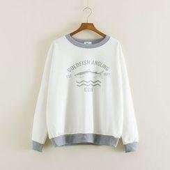 Mushi - Shark Print Sweatshirt
