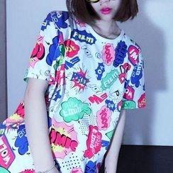 Cerauno - Printed Short Sleeve T-Shirt