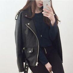 OTTI - Faux Leather Biker Jacket