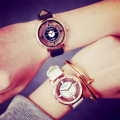 InShop Watches - Faux-Leather Cutout Strap Watch
