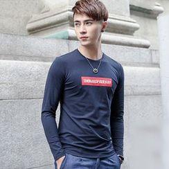 WOOG - Letter Long-Sleeve T-shirt