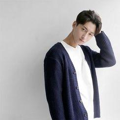 Seoul Homme - V-Neck Cardigan