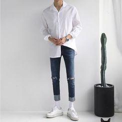 匡億 - 做舊修身牛仔褲