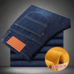 AOBIN - 毛裡直筒牛仔褲