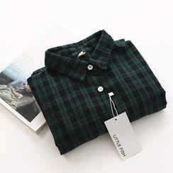 布丁坊 - 格紋襯衫