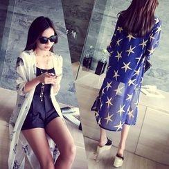 ENZA - Star Print Chiffon Light Jacket
