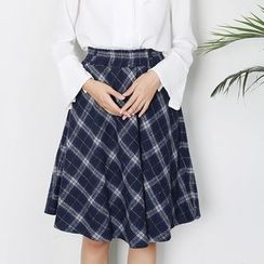 Sens Collection - Plaid A-Line Skirt