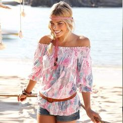 Chika - Off-Shoulder Printed Top