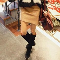 REDOPIN - Faux-Fur Miniskirt