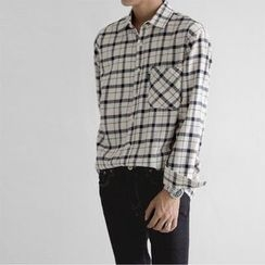 Seoul Homme - Long-Sleeve Check Shirt