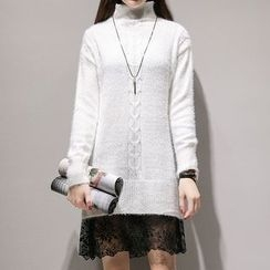 Romantica - Turtleneck Long Sweater
