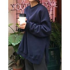 FROMBEGINNING - Fleece-Lined Oversized Sweatshirt