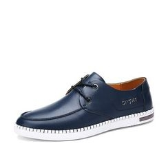 NOVO - Faux Leather Boat Shoes