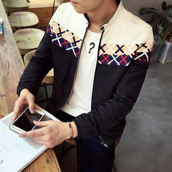 Denimic - Color Block Zip Jacket