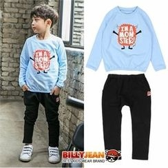 BILLY JEAN - Boys Set: Graphic T-Shirt + Cotton Pants