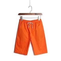 Bingham - 純色抽繩短褲