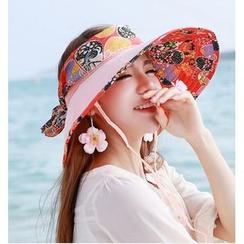 SHUMI - 印花帽檐太阳帽