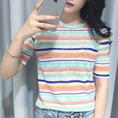 MATO - Striped Short Sleeve T-Shirt