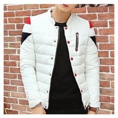 Bay Go Mall - Color Panel Padded Jacket