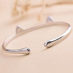 Kulala - 925 Sterling Silver Cat Ear Bangle