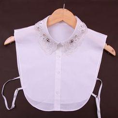 Giyomi - Lace Rhinestone Decorative Collar