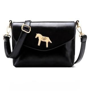19th Street - Faux-Leather Twist-Lock Cross Bag